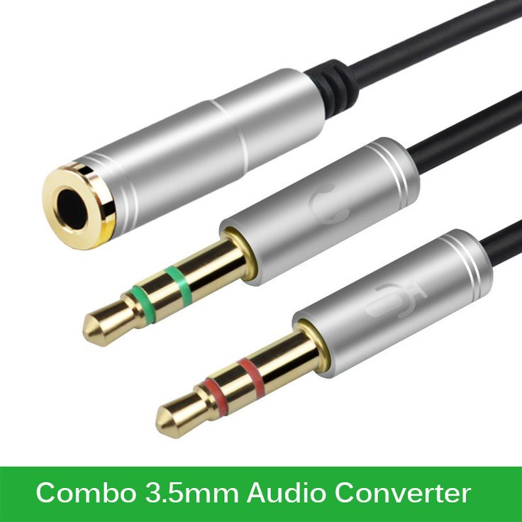Chaud-vente Combo 3.5mm Audio Convertisseur Plug Mic Y Ligne Splitter Extension Câble Casque + Mic Adaptateur Spot en gros