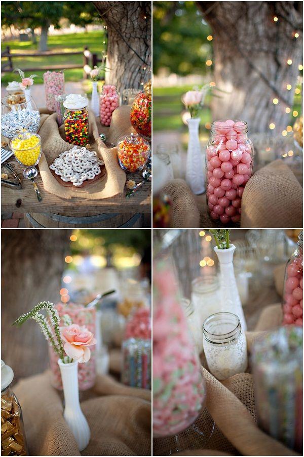 Shabby chic wedding CANDY!!: Candybar, Candy Bars, Candy Buffet, Sweet, Wedding Ideas, Candy Bar Wedding, Weddings, Flower