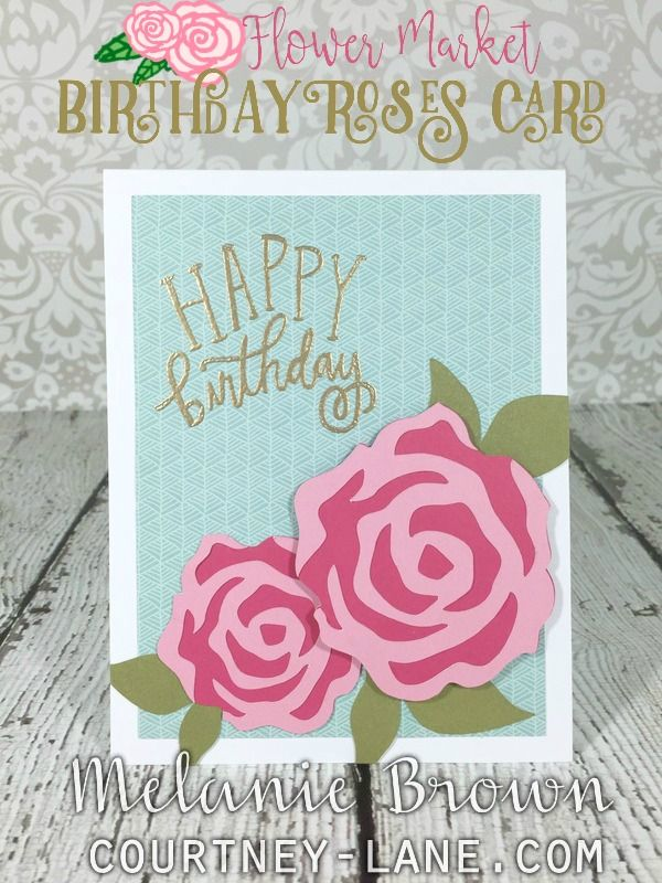 Hello, friends!   Today, I have an easy birthday card that is just perfect for the females in your life! I made this super simple card usi...