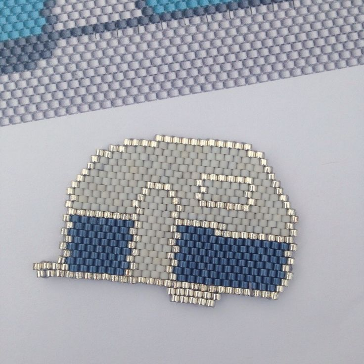 Petite caravane en brick stitch pattern perso