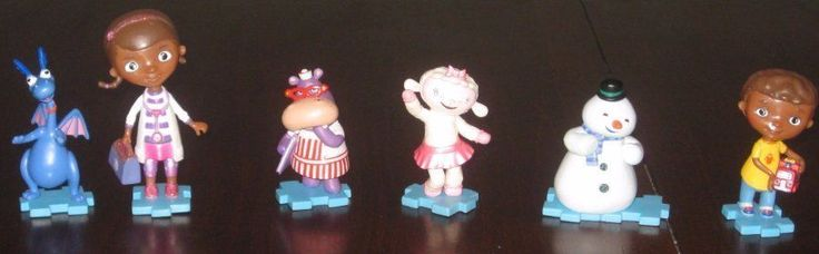 Doc McStuffins Lot of 6 PVC Figures Chilly Stuffy Lambie Hallie & Donny Toppers #Disney