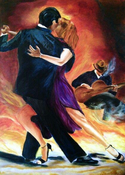 Tango passion 1 / by An Vreeburg Oil / canvas 50 X 70 cm