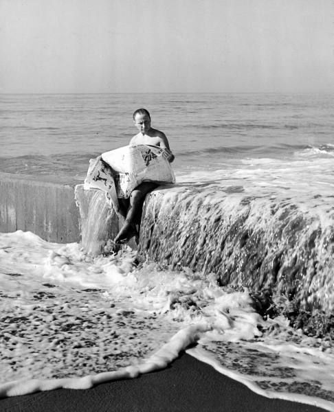 Publicity man Russell Birdwell in his own publicity shot, California, c. 1938.   Alfred Eisenstaedt, LIFE © Time Inc.