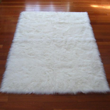 Snowy White Polar Bear Pelt Faux Fur Rectangle Rug (2u00273 X 3u00277)