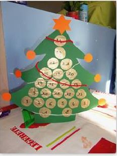 faire un calendrier de l 39 avent sapin avec des rouleaux en carton bricolage noel pinterest. Black Bedroom Furniture Sets. Home Design Ideas