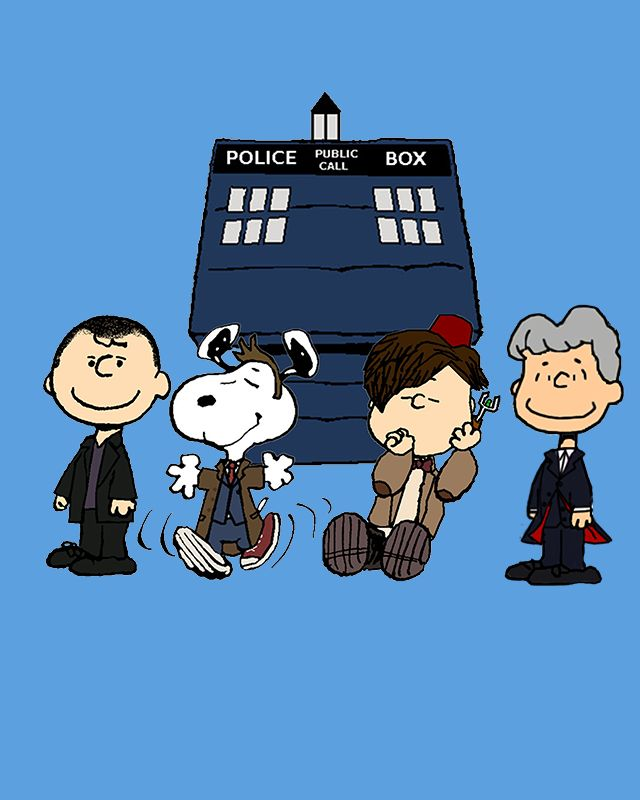 The Doctor is In Design T-Shirt $11 Doctor Who Peanuts mashup tee at Unamee!