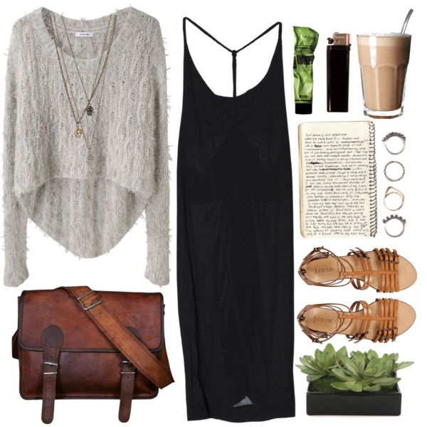 Cafe Date by vv0lf on Polyvore featuring Helmut Lang, J.Crew, Iosselliani and Lux-Art Silks