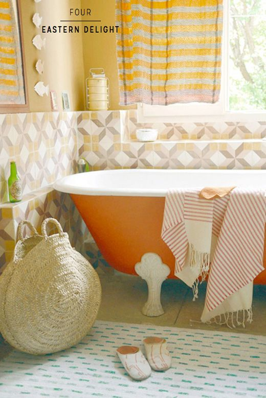 Seven Ways To Perfect A Colourful Bath Tub