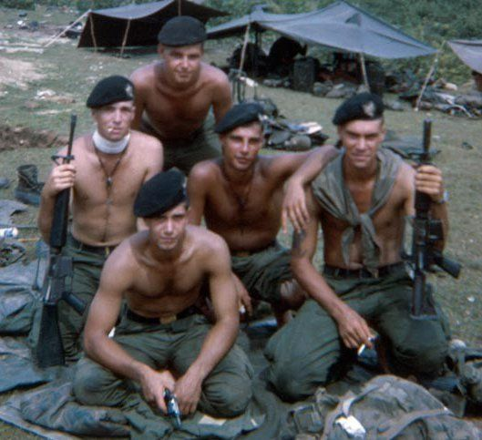 Recondo Platoon who were in HHC 2nd Bn 502inf 1st Bde 101st Airborne Division. They were authorized by the unit to wear the Black Berets with the 101st Recondo Patch on it. - Vietnam War: