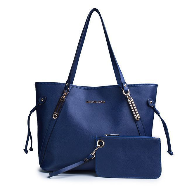 Cheap Michael Kors Jet Set Saffiano Logo Small Navy Totes Clearance. Handbags ...