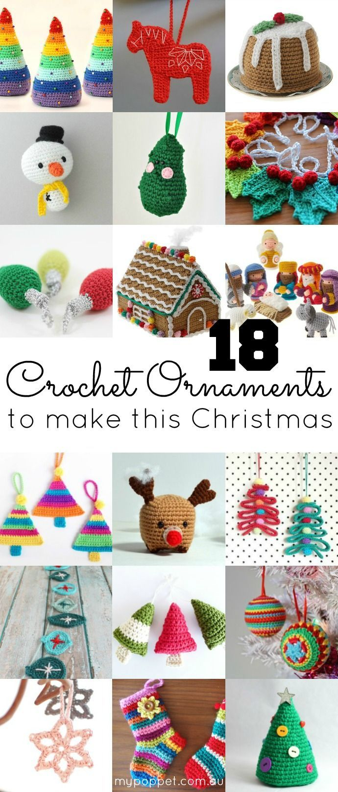 Free and paid for patterns: 18 Crochet Ornaments to make this Christmas