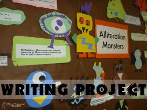 Fun Halloween writing project- Alliteration monsters!