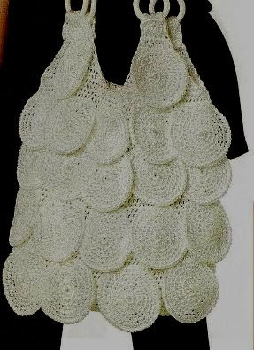 Bolso circulos de crochet blanco patron