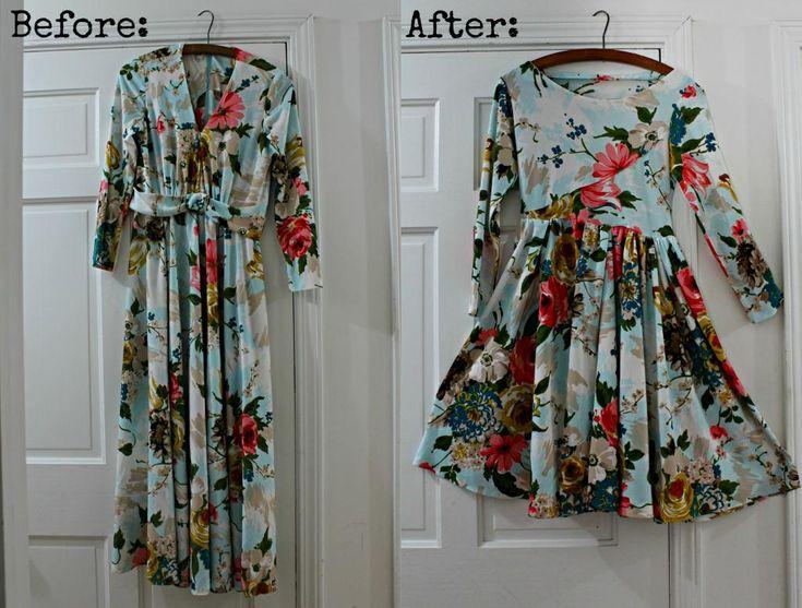 Vintage dress redo update