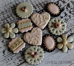 Francés lamentable galletas elegantes