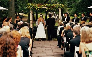 Just a Walk in the Park.  Click the pic for tips on How to Have a Park Wedding.  *from Brides Mag