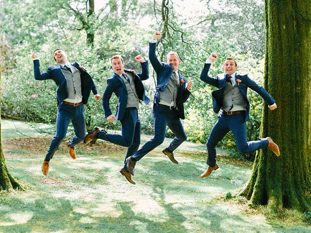 Adorable and funny groomsmen shot by Into the Light Photography | www.onefabday.com