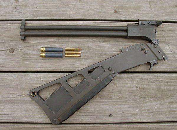 M6 rifle .22 & 410 http://www.guns.com/2013/08/07/the-m6-survival-gun-backpackers-breakaction-combo-video/