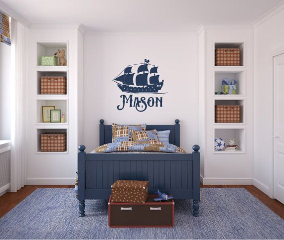 Pirate Ship Boat With Name Vinyl Decal Wall Art By Airetdesigns. Dirt Bike  ...