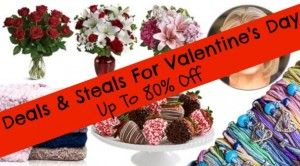 GMA Deals and Steals are here to help you get a great deal today for Valentine's Day (up to 80% off).