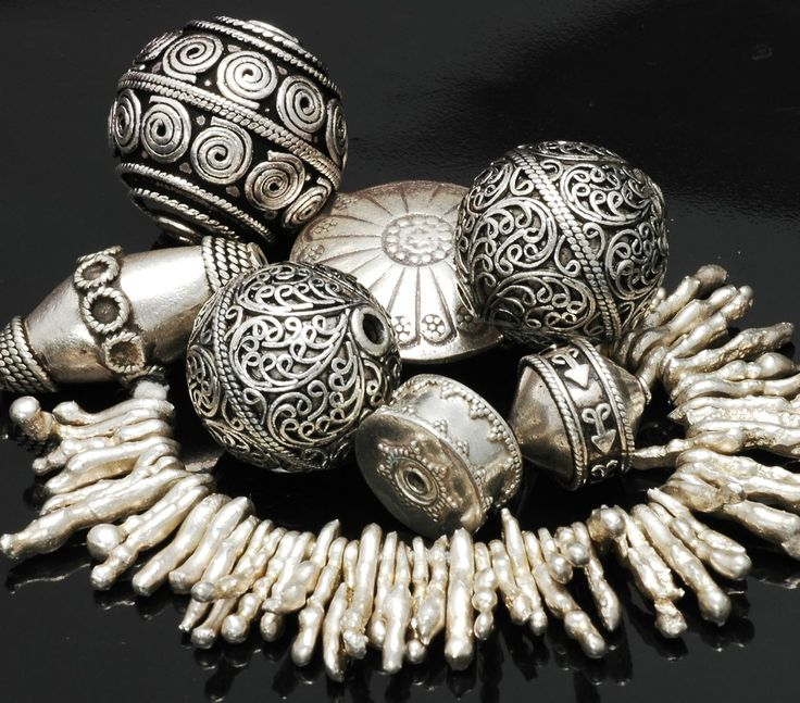 Indian and Thai silver beads