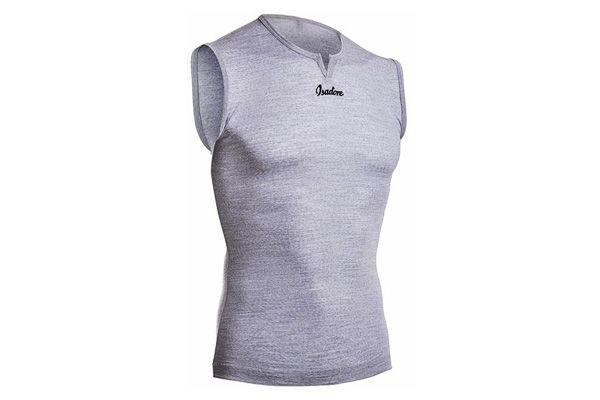 Isadore - 100% Merino Sleeveless Baselayer Grey #cyclingmemories