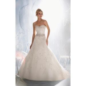 Mori Lee Bridal - 1966 Dress , mori lee bridal strapless beaded a line gorgeous vintage wedding gown by Joseph C. Simmons