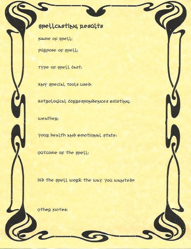 wiccan worksheets spell casting worksheet all witchy stuff pinterest wiccan and magick. Black Bedroom Furniture Sets. Home Design Ideas