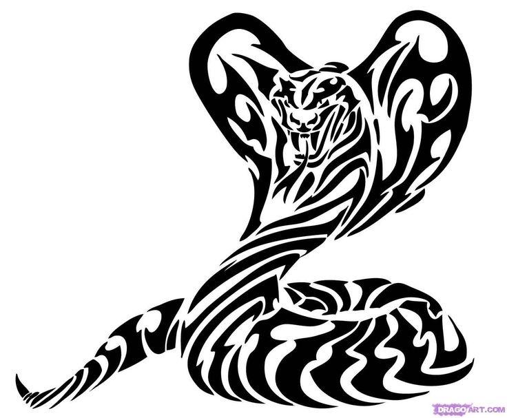 Nice Tribal Snake Tattoo Design
