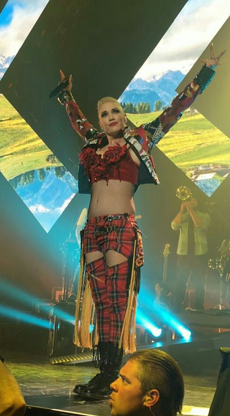 Gwen Stefani. Saw her at Jones Beach last week and loved her show!  Gwen Stefani is an great entertainer and a warm human being!  My daughters first real rock concert.  She says The Wiggles was the first concert but I dsiagree ; P