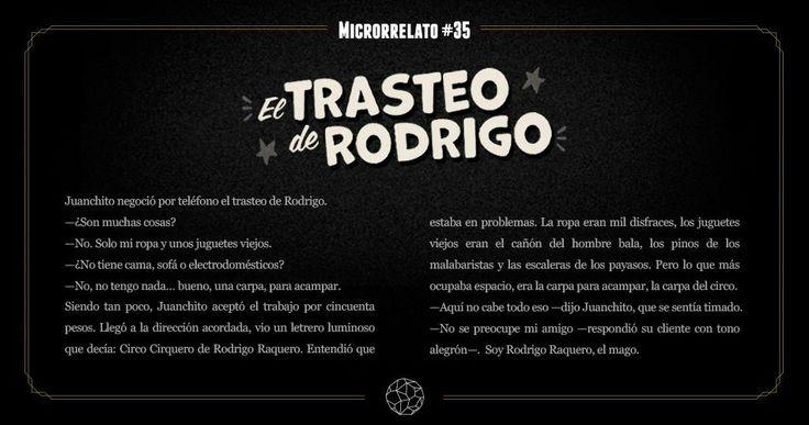 Microrrelato #35 El trasteo de Rodrigo