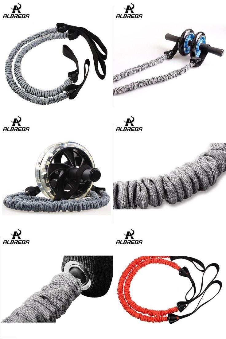 [Visit to Buy] ALBREDA AB wheel abdominal rope pull Multifunctional pulling rope body-building equipment auxiliary wheel & abdominal pull rope #Advertisement