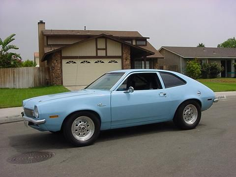 1972 Ford Pinto - my neighbor still has one, this exact color too