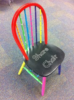 Share Chair: Incentive for kiddies to bring items in to share (must have a note with clues to read to the class)