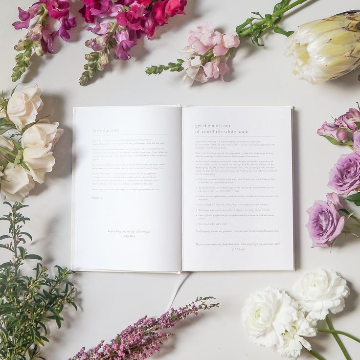 the beautiful 'little white book' - wedding organiser, diary and planner - never look for an engagement gift again. Via She Said Yes Wedding Blog