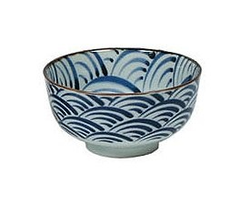 Beautiful Blue Waves Bowl At Seito Trading