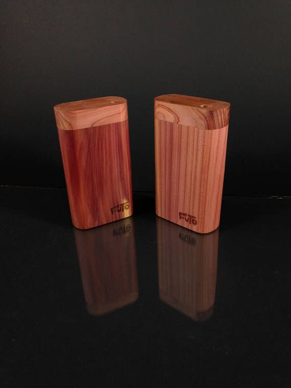 Futo Micro  Aromatic Cedar Dugout  Smoking Box  Made in