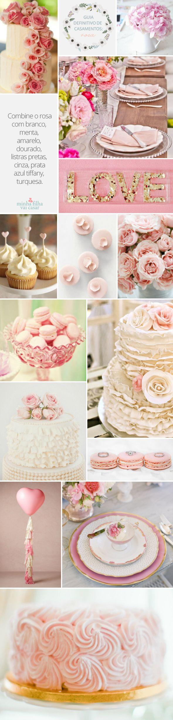 Pink, wedding inspiration, color pallet, moodboard
