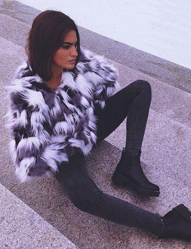 Bloggers Street Style, look Chaqueta pelo sintético