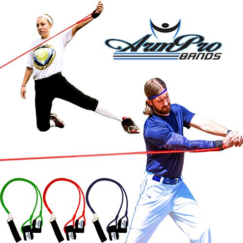 ArmPro Bands for Softball Training and Baseball Training, $24.95 Use coupon code PINIT15 for 15% off training products.