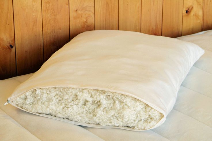 "Shredded Wool Bed Pillows - ""Woolly Down"""