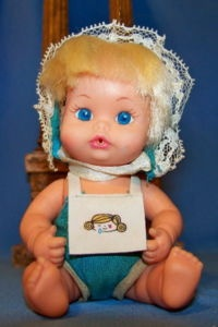 Another thing I spent hours and hours playing with my sister and friend. Sweet April doll by Remco