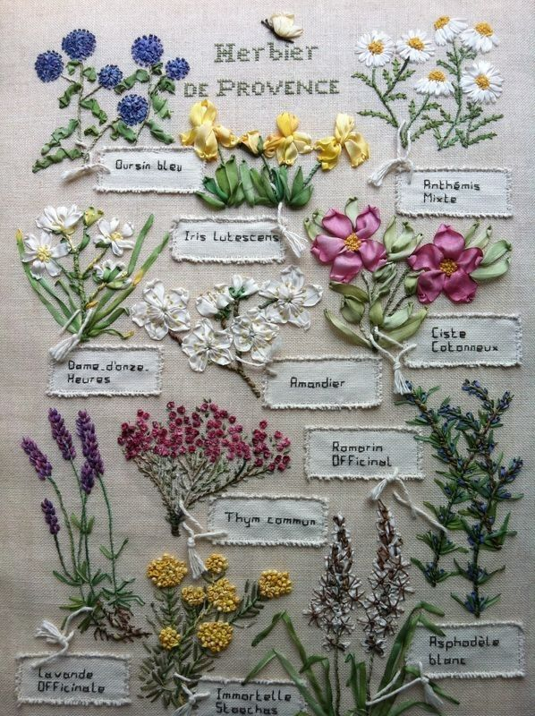 Beautiful herb embroidery.
