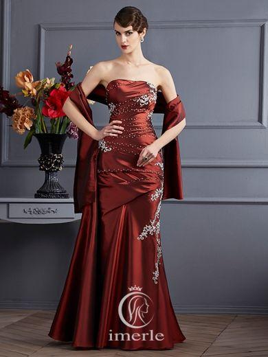 #apllique #strapless #long #evening #dress