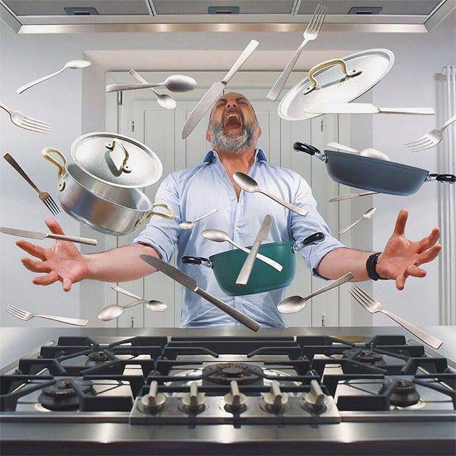 Who wants to see me in my magic Kitchen?  •  #Kitchensuspension #foodprnshare #lacucinaitaliana #foodphoto #foodgram #foodlover #foodart #mashpics #italyfoodporn #100ita #theweekoninstagram #eyeson #huffpostitagram #neverstopchangingtaste #digitalart #igfoodpics #gastroart  #foodstarz #chefsoninstagram #chefsroll #thekitchn #garageraw #sambonet #pots #thefullcolors #igersmodena  #cittadimodena #turismoer #spoon