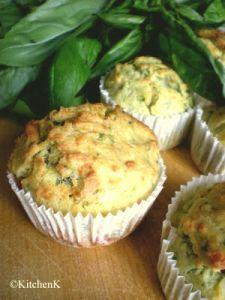Muffins salés au pesto basilic