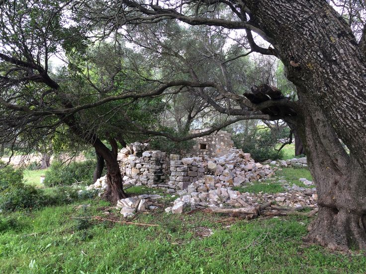 Οld building ruins on the island
