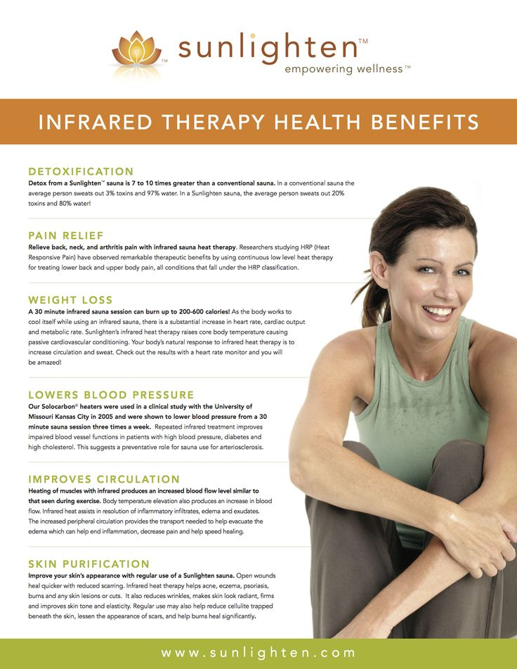 the Health Benefits of Infrared Therapy {{www.sunlighten.com}}