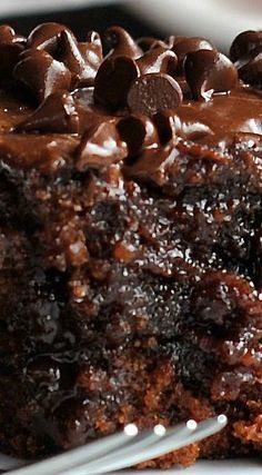 Chocolate Coke Poke Cake ~ Super super moist and rich and fudgy