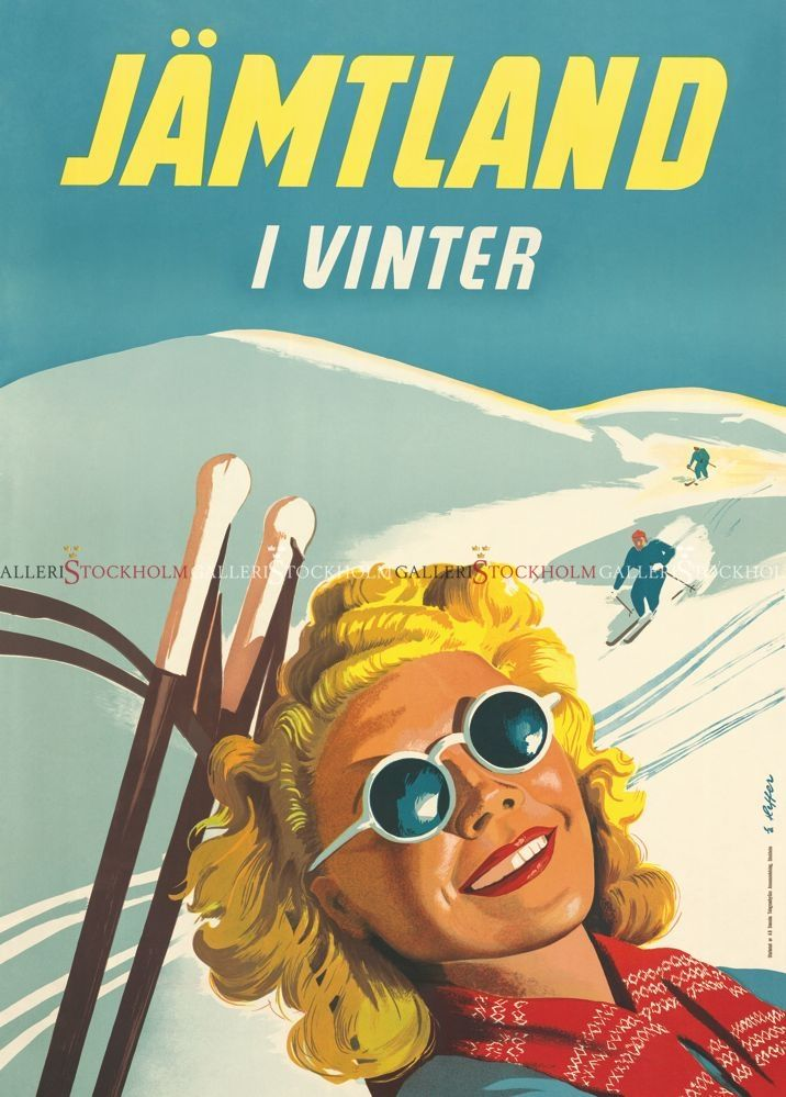 Erik Heffner - Affischer Retro - Jämtland i vinter